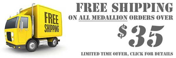 Free Shipping All Medallions